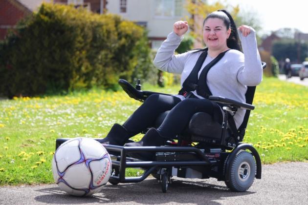 Rosie's Powerchair Football dream comes true!