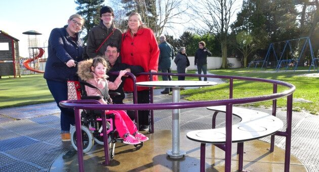 New disability friendly playground equipment in Lowestoft!