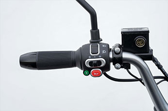 Invader Off-Road Mobility Scooter Controls - Feel the road controls