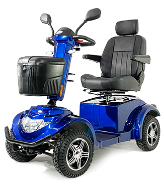 """The """"Ignite"""" mobility scooter is available in two colours, including Azure Blue."""