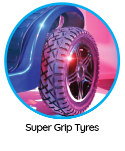"""Features of the """"Ignite"""" mobility scooter include super grip tyres."""